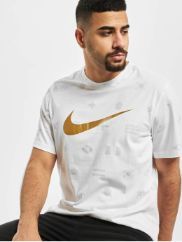 Nike T-Shirty Preheat AOP bialy