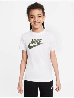Nike T-Shirty Camo Futura bialy