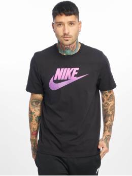 Nike T-Shirty CLTR Gradient Futura czarny