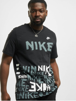 Nike T-Shirty Printed Aop HBR czarny
