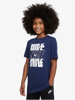 Nike T-skjorter Stack blå