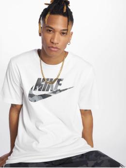 Nike T-skjorter Camou hvit