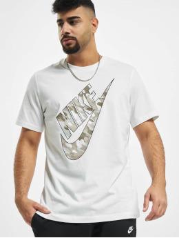 Nike T-skjorter Club HBR Camo 2 hvit