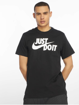 Nike T-skjorter Just Do It Swoosh svart