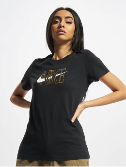 Nike T-skjorter NSW Shine svart