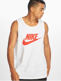 Nike Tank Tops Icon Futura blanco