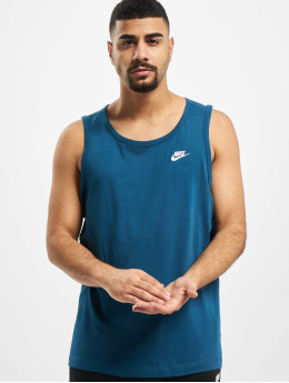 Nike Tank Tops Club  blu