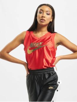 Nike Tank Tops Glam Dunk  czerwony