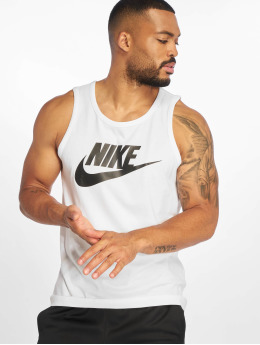 Nike Tank Tops  Icon Futura Tank Top white