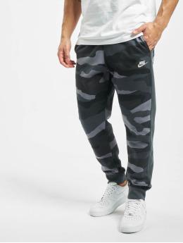 Nike tepláky Club Camo šedá