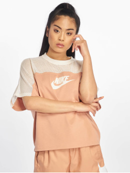 Nike Topssans manche SS Mesh rose