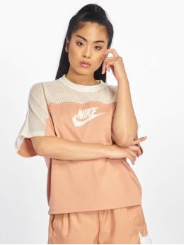 Nike Tops SS Mesh rózowy