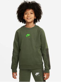Nike Tričká dlhý rukáv Air Crew zelená