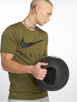 Nike Tričká Dry Athlete Training olivová