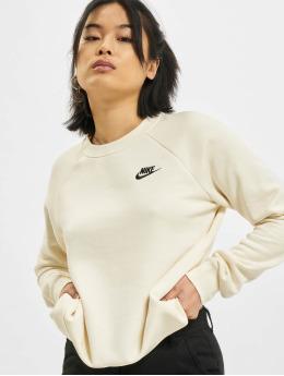 Nike Tröja W Nsw Essntl Flc Crew beige