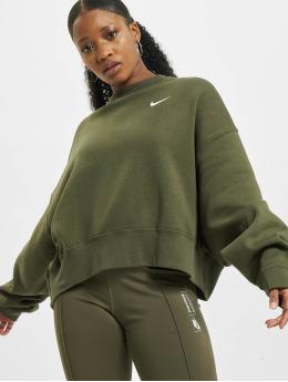 Nike trui W Nsw Crew Flc Trend khaki
