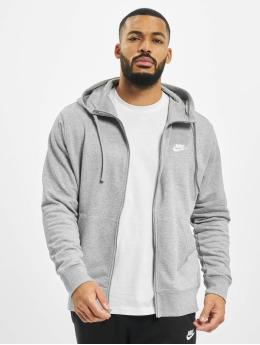 Nike Zip Hoodie Club Full Zip FT серый