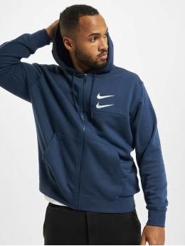 Nike Zip Hoodie Swoosh  blau