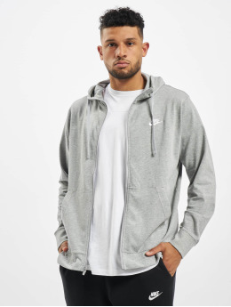 Nike Zip Hoodie Club Full Zip JSY gray