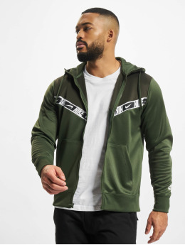 Nike Zip Hoodie Repeat PK grön