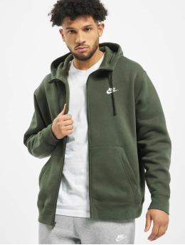 Nike Zip Hoodie Club Hoodie grün