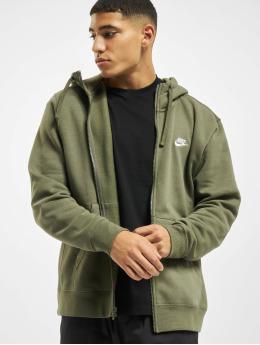 Nike Zip Hoodie M Club Full grün