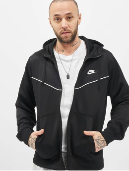 Nike Zip Hoodie Repeat PK Full Zip schwarz