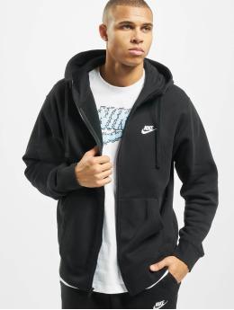 Nike Zip Hoodie Club svart