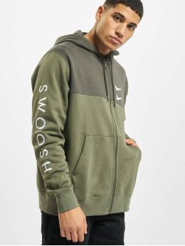 Nike Zip Hoodie Swoosh Full Zip SBB zelená