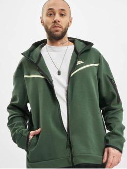 Nike Zip Hoodie M Nsw Tch Flc Fz Wr zelená