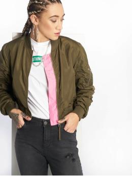 Noisy May Bomber jacket  nmSusu green