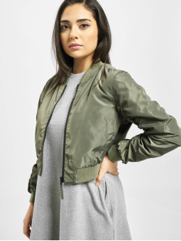 Noisy May Bomber nmSadie Crop olive