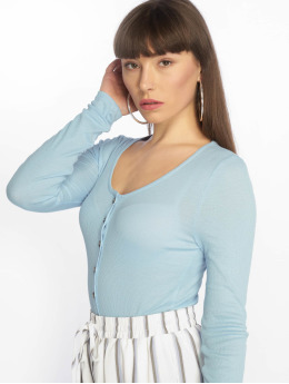 Noisy May Camiseta de manga larga nmHenley L/S Top X4 azul