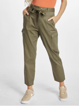 Noisy May Cargo pants nmMimi Crispy Belt oliv