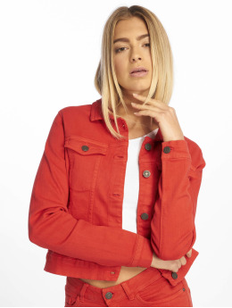 Noisy May Denim Jacket nmDora Color 2B  red