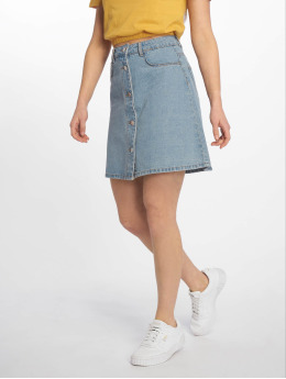 Noisy May Falda nmSunny Noos Short Denim Skater azul
