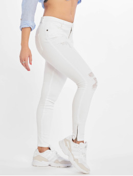 Noisy May Skinny Jeans nmKimmy Norma bialy