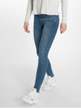 Noisy May Skinny Jeans nmEve Organic modrý