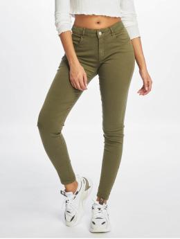 Noisy May Skinny Jeans nmTribeca NR oliwkowy