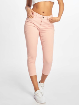 Noisy May Skinny Jeans nmLucy NW Skinny Cropped CLR X  rózowy