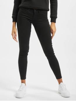 Noisy May Skinny jeans nmEve Low Waist Pocket svart