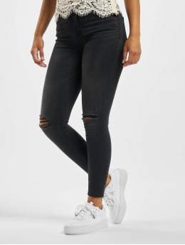 Noisy May Skinny jeans nmLucy NW Ankle  svart