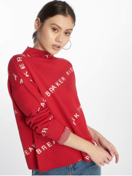 Noisy May Tröja nmHeart Breaker High Neck Knit X2 röd