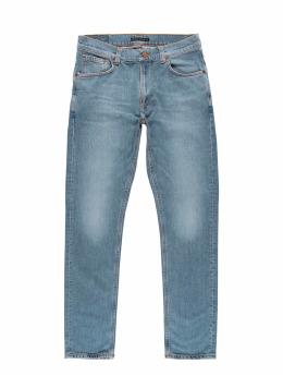 Nudie Jeans dżinsy przylegające Lean Dean niebieski