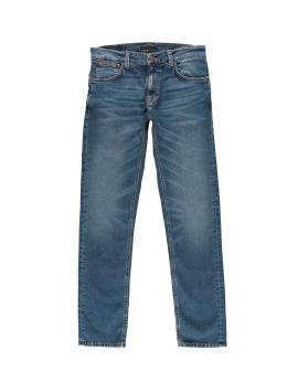 Nudie Jeans dżinsy przylegające Thin Finn niebieski