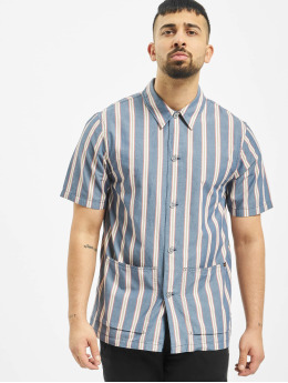 Nudie Jeans Shirt Svante Cuban Stripe blue