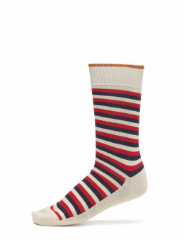 Nudie Jeans Socken Olsson French Stripe beige
