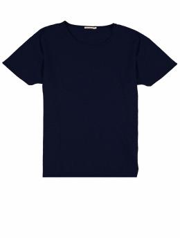 Nudie Jeans T-Shirt Roger Slub blau
