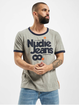 Nudie Jeans T-Shirt  grau