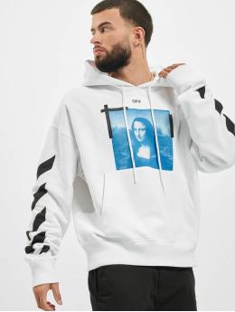 Off-White Bluzy z kapturem Monalisa Over bialy